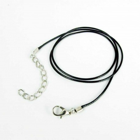 Leather Necklace Cord 45cm 2mm with clasp