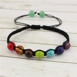 Agat Mos naturlig sten armbånd