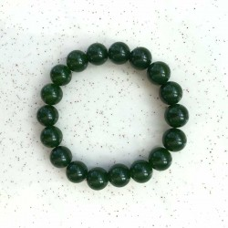Armbånd Jade Dark Green Gemstone 10mm jadeperler