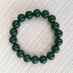 Jade Dark Green Bracelet 10mm gemstone beads