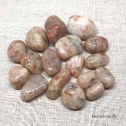 Nøglering Agate Crazy Lace sten hjerte vedhæng
