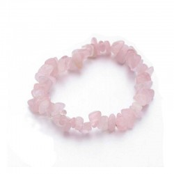 Armbånd Rosakvarts krystal sten Natural Rose Quartz Chips