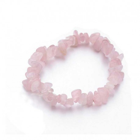 Rose Quartz Gemstone Chips Bracelet
