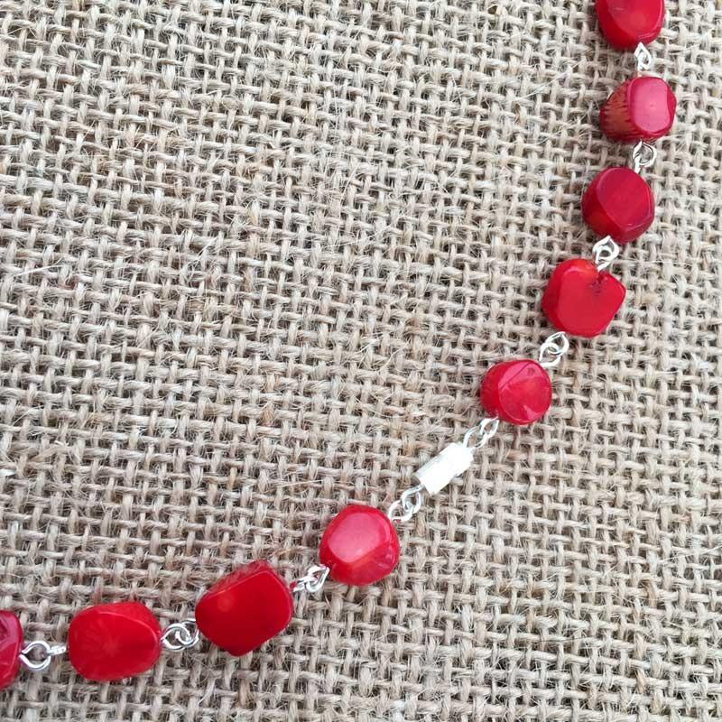 Amethyst gemstone chips bracelet