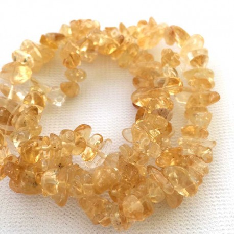 Citrine Crystal stone chips DIY jewellery making