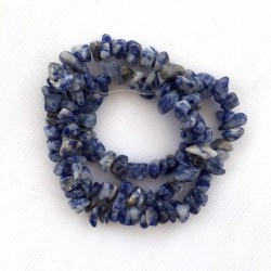 Sodalit chips 5-8mm lav selv armbånd eller halskæde