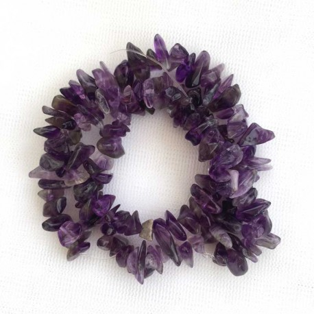 Amethyst Crystal Gemstone chips DIY jewellery making