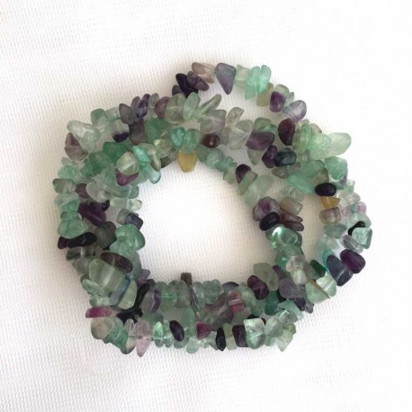 Fluorite Crystal stone chips DIY jewellery making