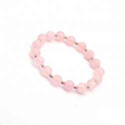 Armbånd Rosakvarts krystal sten perler 8mm Natural Rose Quartz Gemstone
