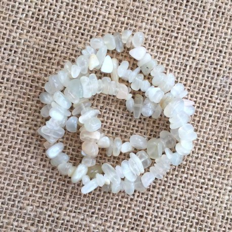 Moonstone Gemstone Chips 1 Strand DIY jewelry