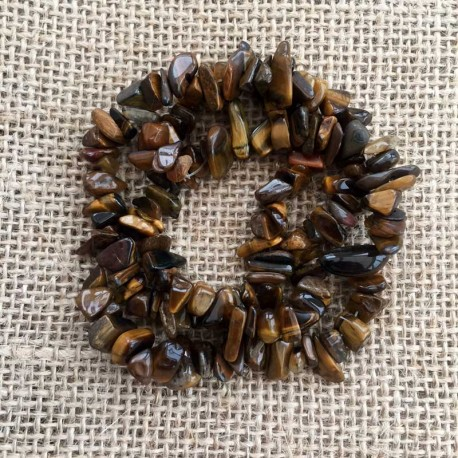 Tiger Eye Gemstone Chips 1 Strand DIY jewelry