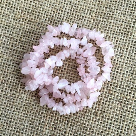 Rose Quartz Crystal Stone Chips 1 Strand DIY jewelry