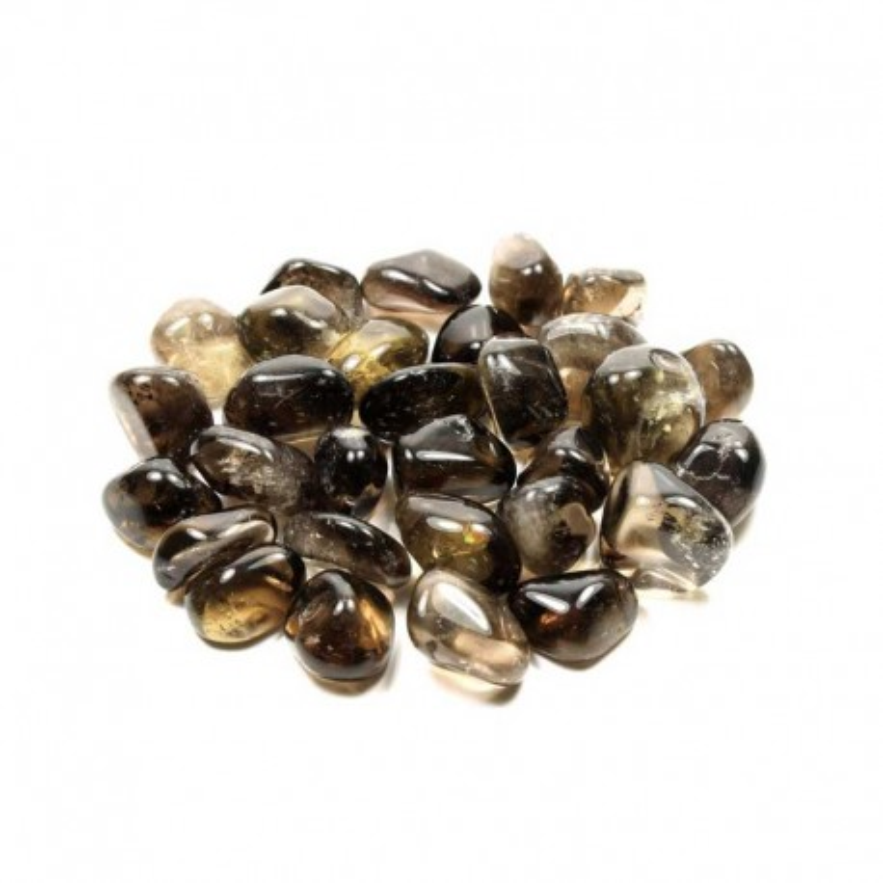 Røgkvarts krystal sten Natural Tumbled Smoky Quartz Gemstone