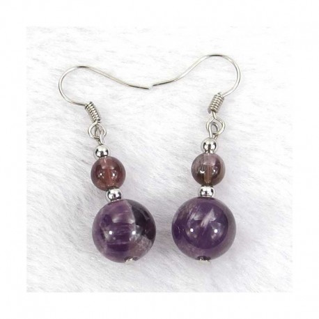 Calcite Gold Gemstone Sphere Earrings