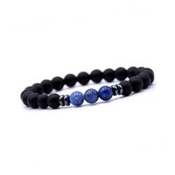 Chakra Sten halskæde med sort lædersnor yoga smykker
