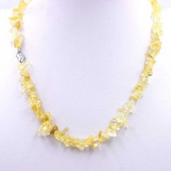 Citrine Crystal Necklace Handmade Jewellery