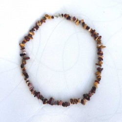 Mookaite Jasper Necklace Natural Gemstone Chips