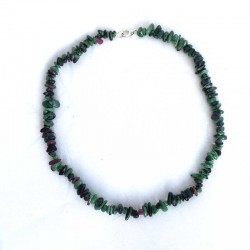 Ruby Zoisite Necklace Natural Gemstone Chips