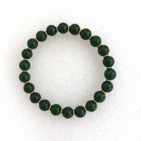 Jade Dark Green Bracelet 8mm gemstone beads