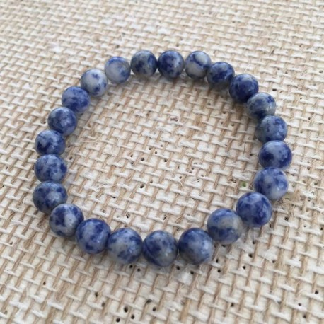 Armbånd Sodalit sten 8mm Natural Blue Sodalite Gemstone