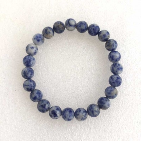 Sodalite Bracelet 8mm gemstone beads
