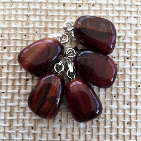 Red Tiger Eye Gemstone Pendant