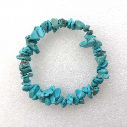 Armbånd Turkis sten Natural Blue Turquoise chips