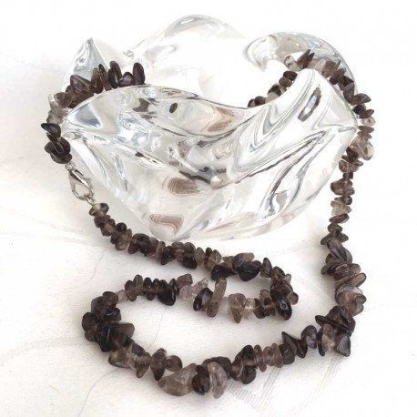 Smoky Quartz Crystal Necklace Handmade