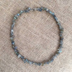 Labradorite gemstone chips necklace