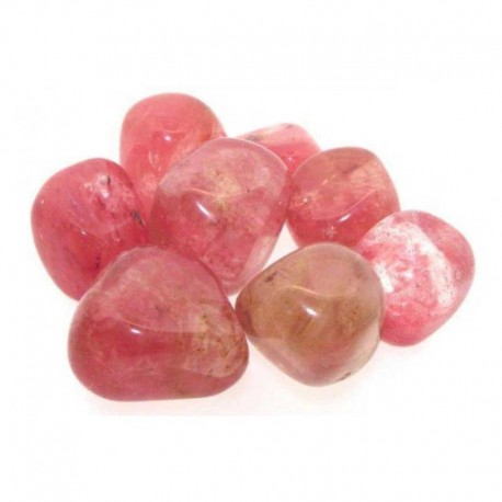 Cherry Quartz Tumbled Gemstone 25x25mm