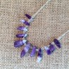 Natural Amethyst & Silver Necklace Handmade