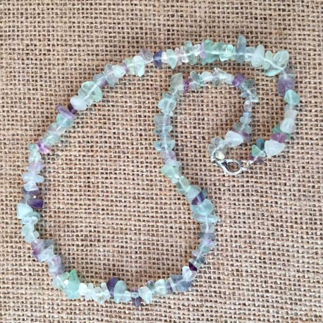 Fluorite Necklace Natural Crystal Stone Chips