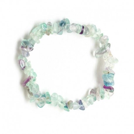 Bracelet Fluorite Gemstone Crystal Chips