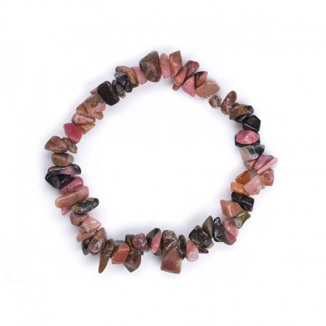 Rhodonite chips gemstone bracelet
