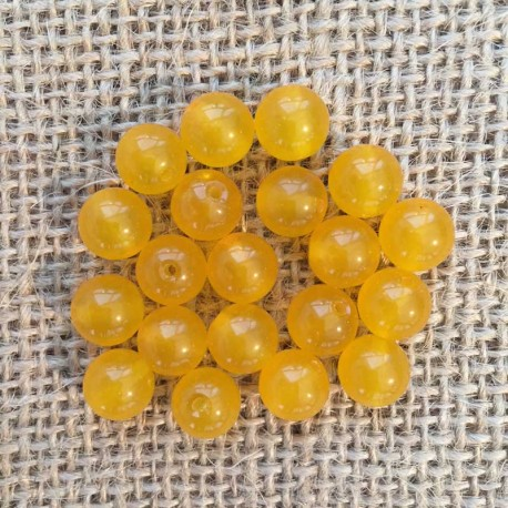 Jade Yellow Gemstone Beads