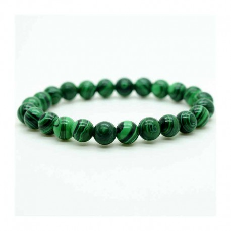 Malachite Bracelet gemstone beads 8mm