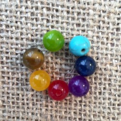 Chakra Stone 7 Beads Set Yoga Jewelry