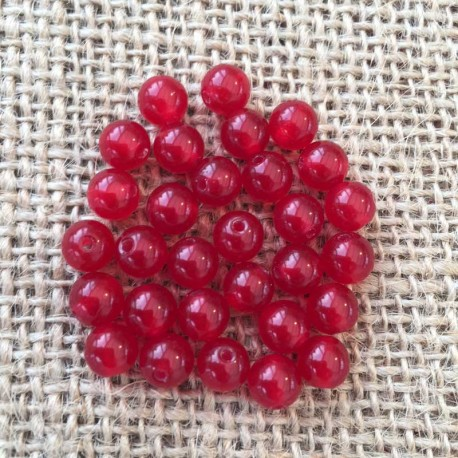 Jade Red Gemstone Beads