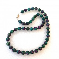 Ruby Zoizite Necklace 8mm gemstone beads