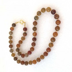 Yellow Agate Dragon Veins Necklace Natural gemstone beads