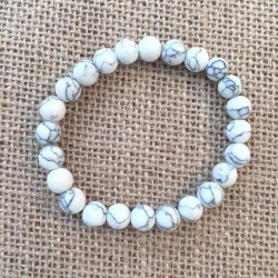 Howlite Bracelet gemstone beads 8mm