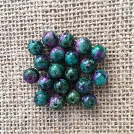 Ruby Zoisite Gemstone Beads 6mm 8mm