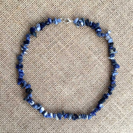 Sodalite Natural Stone Necklace Handmade
