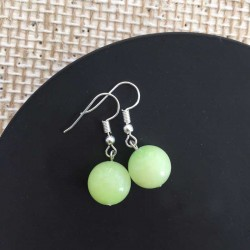 Jade Light Green Gemstone Earrings