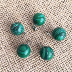 Malachite Gemstone Ball Pendant