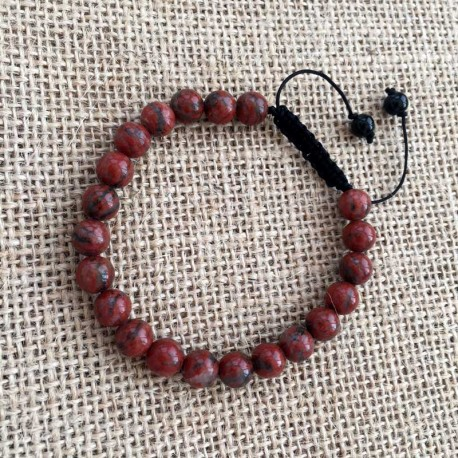 Red Jasper Shamballa bracelet braided