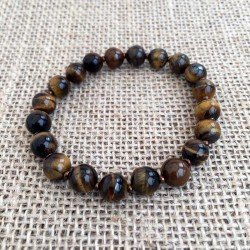 Tiger Eye Gemstone Bracelet Elastic