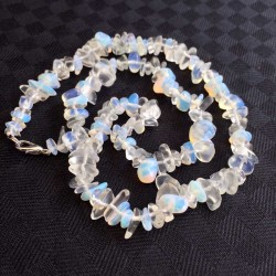 Opal Necklace Genuine Opalite Chips