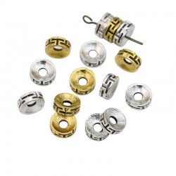 Bracelet Spacer Beads Antique Gold & Silver 8mm