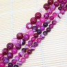 Pink Striped Agate Beads Natural Stone